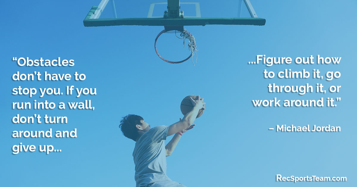 Sport Quote - Obstacles by Michael Jordan