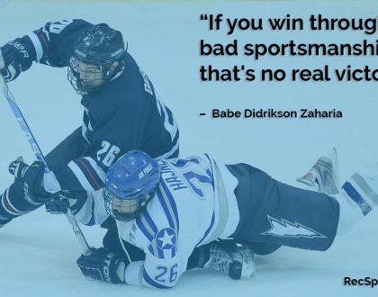 Sport Quote – Sportsmanship by Babe Didrikson Zaharias