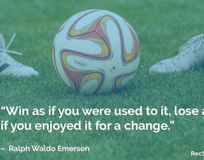 Sport Quote – Winning & Losing by Ralph Waldo Emerson